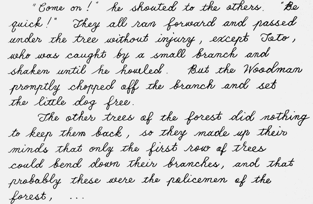 oz192 handwriting