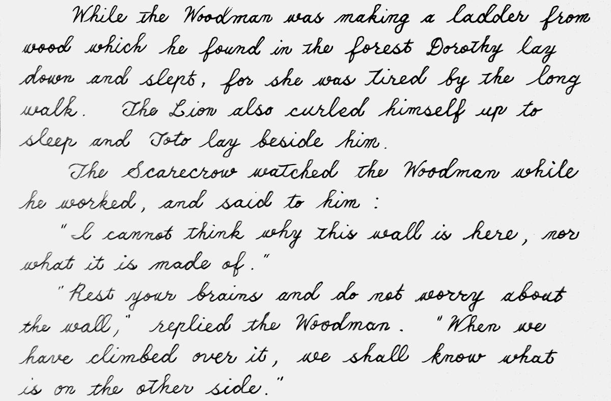 oz193 handwriting